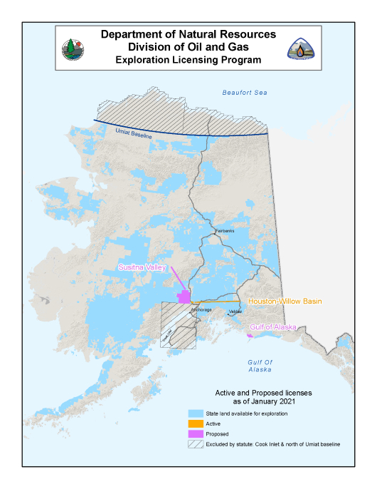2020 Exploration Licensing Map